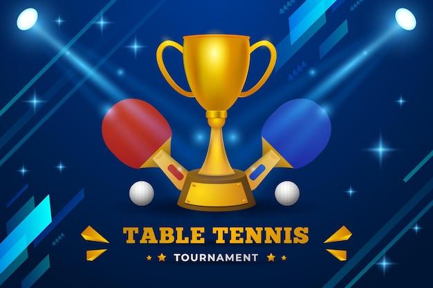Fundo realista de tênis de mesa