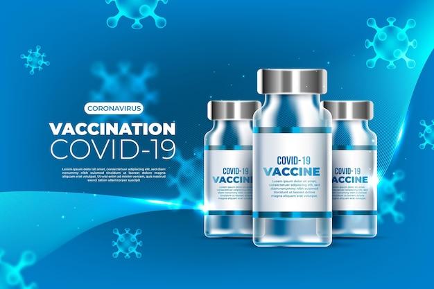 Fundo realista de vacina de coronavírus