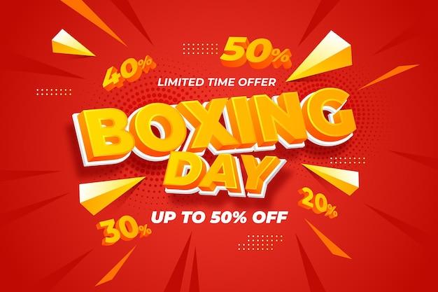 Fundo realista de venda de boxing day