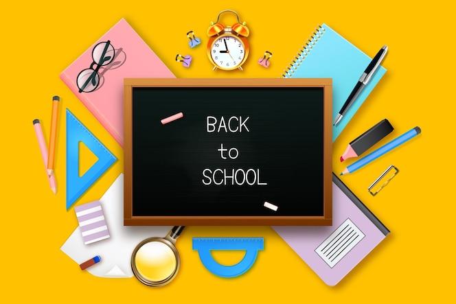 Fundo realista de volta às aulas