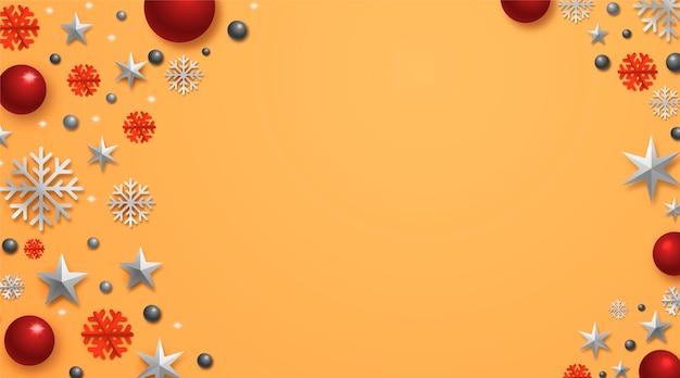 Fundo realista decoração natal
