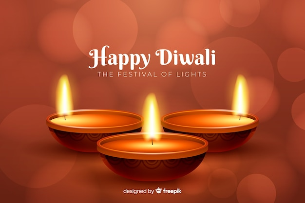 Fundo realista diwali vermelho