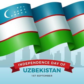 Fundo realista do dia da independência do uzbequistão