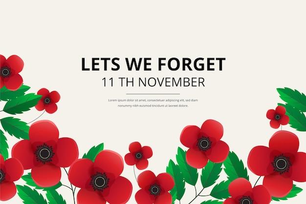 Fundo realista do dia da lembrança