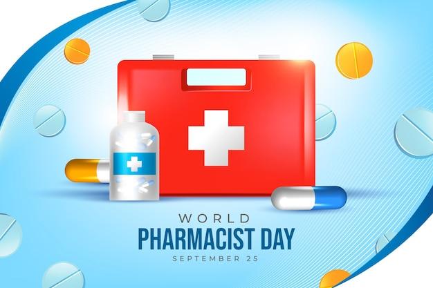 Fundo realista do dia do farmacêutico