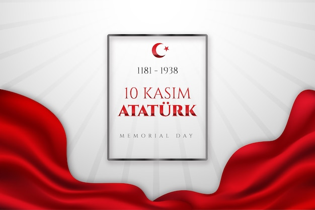 Fundo realista do dia do memorial de ataturk
