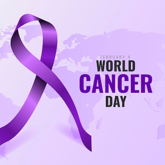 Fundo realista do dia mundial do câncer com fita