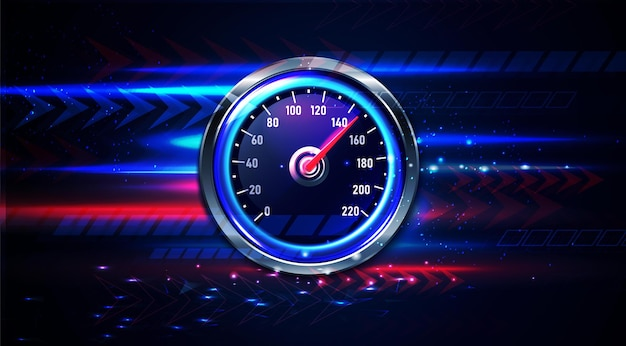 Fundo realista do velocímetro do carro