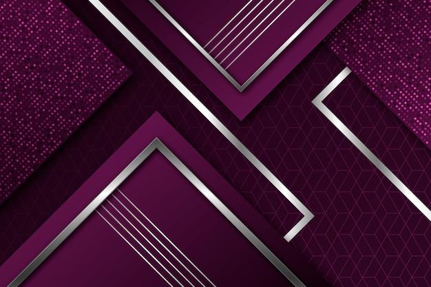 Fundo realista elegante formas geométricas