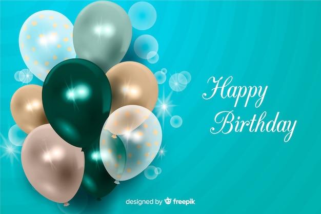 Fundo realista feliz aniversário