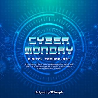 Fundo realista segunda-feira cyber