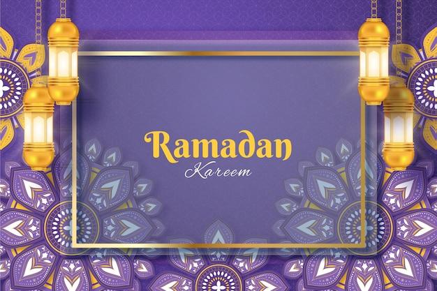 Fundo realístico do ramadã kareem
