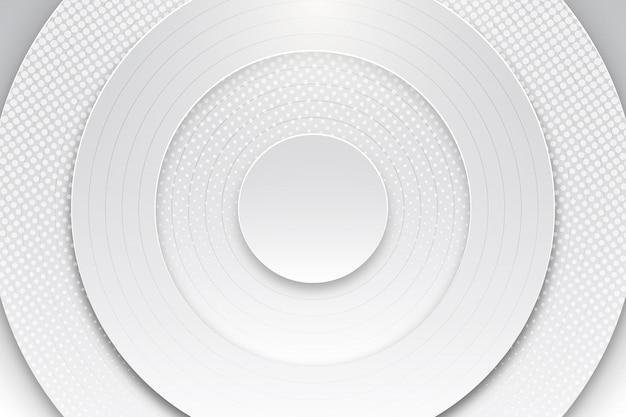 Fundo redondo abstrato branco