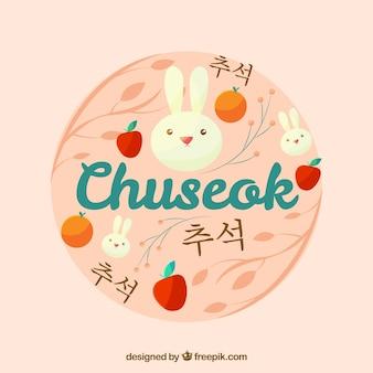 Fundo redondo chuseok