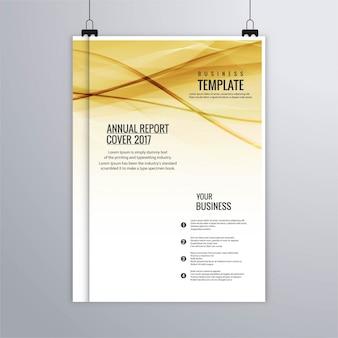 Fundo relatório anual ondulado