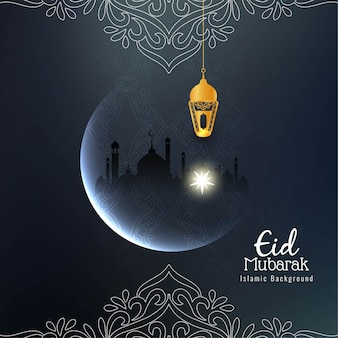 Fundo religioso bonito abstrato de eid mubarak