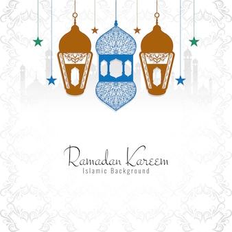 Fundo religioso decorativo de ramadan kareem