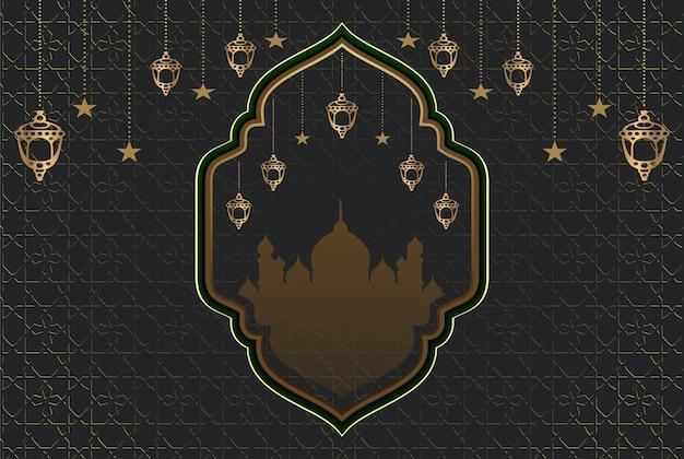 Fundo religioso islâmico da mesquita