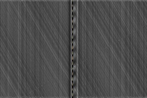 Fundo retangular de jeans. textura áspera cinza.