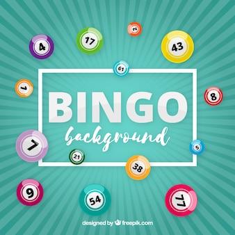 Fundo retro com bolas de bingo
