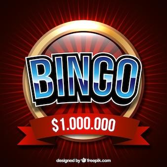 Fundo retro de bolas de bingo