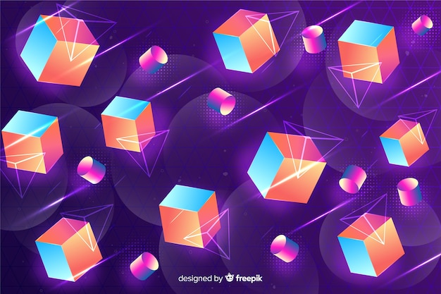 Fundo retrô de formas geométricas