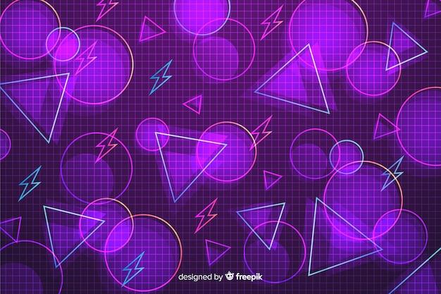 Fundo retrô de modelos geométricos