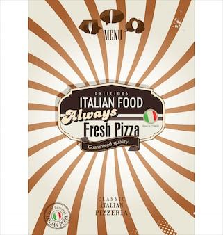 Fundo retrô de pizza