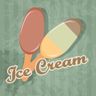 Fundo retrô de sorvete. ilustração vetorial