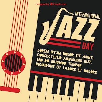 Fundo retro dia internacional de jazz