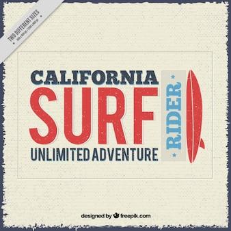 Fundo retro surfar com a frase