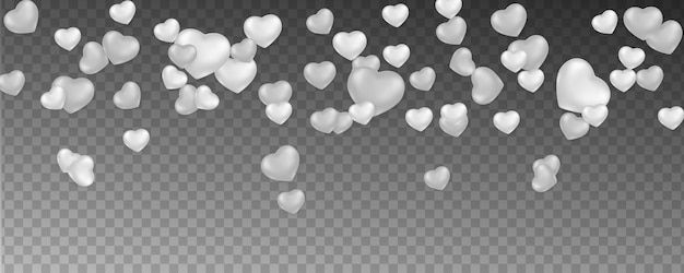 Fundo romântico com corações caindo