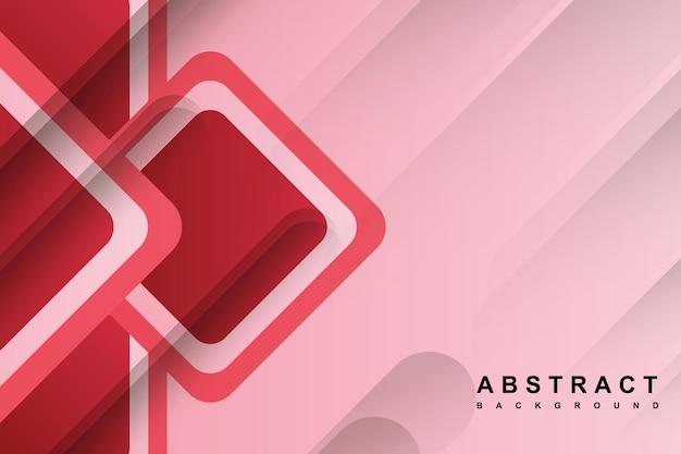 Fundo rosa abstrato com forma geométrica