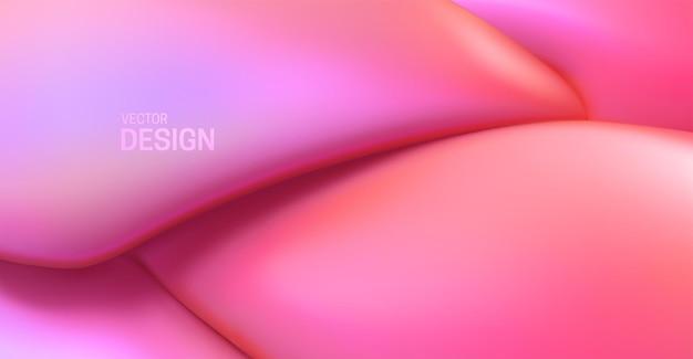 Fundo rosa abstrato com formas elásticas suaves