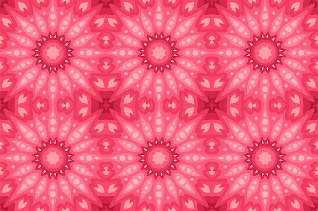 Fundo rosa bonito com padrão abstrato de azulejos sem costura