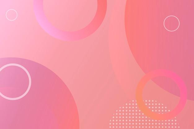 Fundo rosa com estampa de memphis