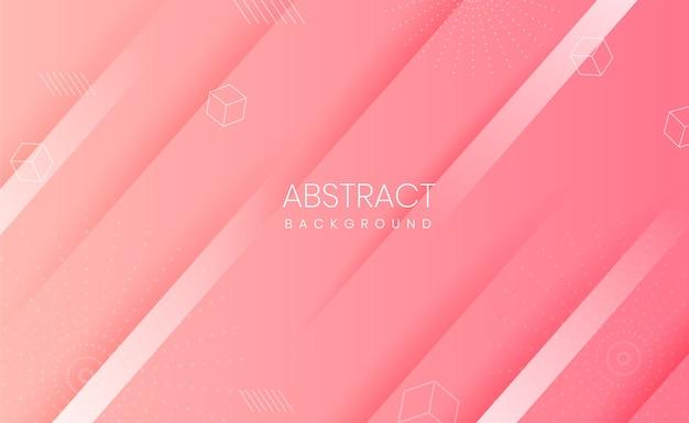 Fundo rosa com formas abstratas e gradiente