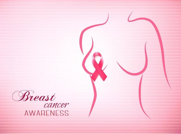 Fundo rosa de conscientização do câncer de mama