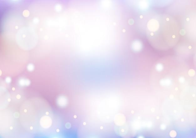 Fundo rosa de inverno com bokeh de natal