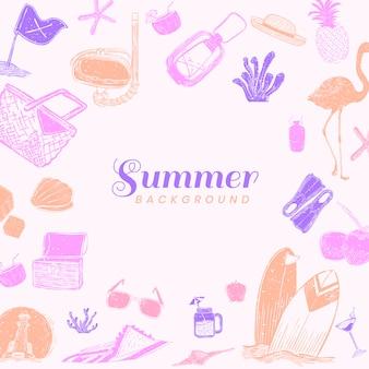 Fundo rosa de verão