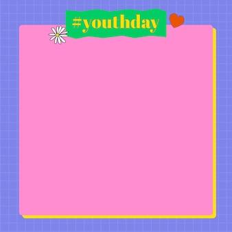 Fundo rosa e roxo do dia da juventude
