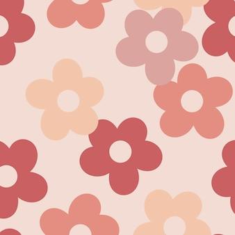 Fundo rosa estampado floral sem costura