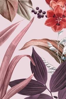 Fundo rosa floral
