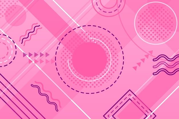Fundo rosa formas geométricas
