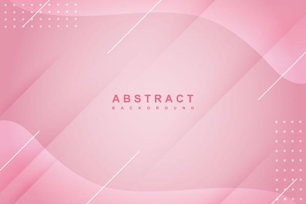 Fundo rosa líquido abstrato com composição de gradiente fluido e sombra diagonal