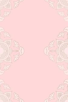Fundo rosa mandala