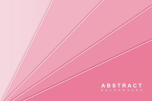 Fundo rosa minimalista abstrato com forma diagonal sobreposta em camadas