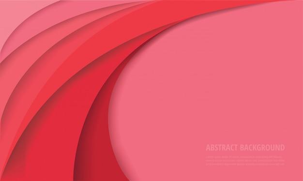 Fundo rosa modelo curva
