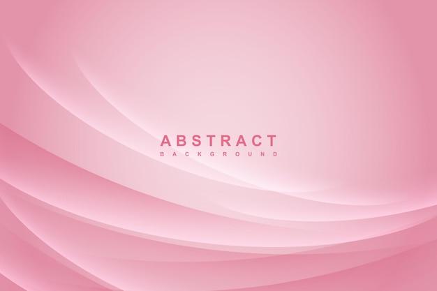 Fundo rosa moderno abstrato com decoração ondulada de luz e sombra