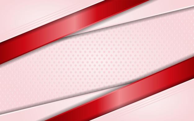 Fundo rosa moderno com elemento de linhas vermelhas simples